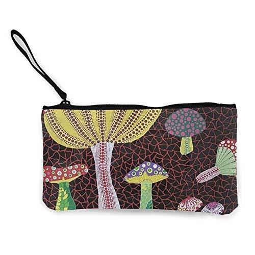 XCNGG Monederos Bolsa de Almacenamiento Shell Avant Garde Art Beautiful Mushrooms Canvas Coin Purse with Zipper Coin Wallet Multi-Function Small Purse Cosmetic Bags For Women Men
