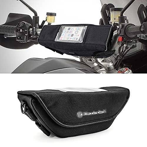 HWH Motorycle Manillar Navegación Bolsa a prueba de agua Saddle Bag Big Screen Teléfono móvil G.p.s para ap.ril.ia Caponord 1200 Rally ABS Durable