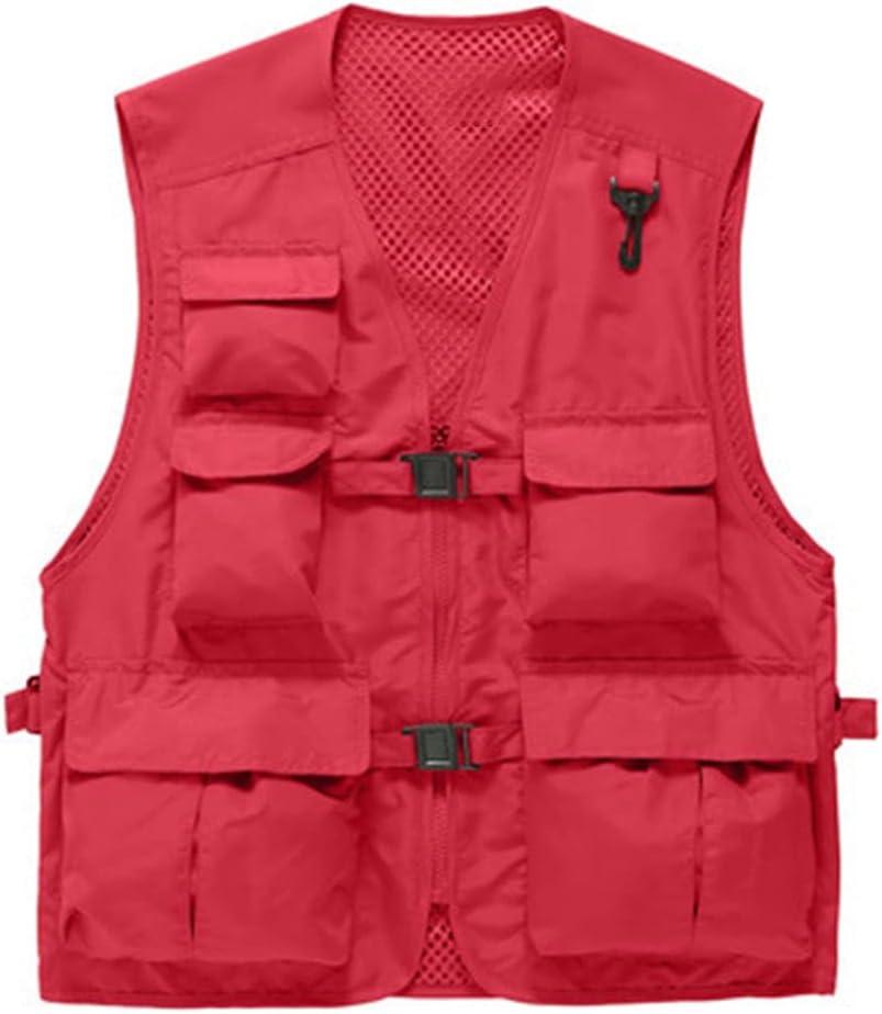 Limited price HYFDGV Rare Fishing Vests for Photogra Men Multi-Pockets Vest