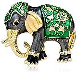 FOPUYTQABG Broche Exótico elefante broche lindo y delicado animal pecho accesorios