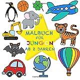 Malbuch Jungen ab 2 Jahren: Mein erster großer Malspaß für