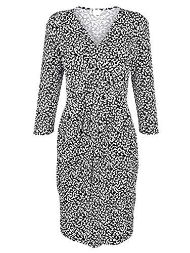 Alba Moda Damen Jerseykleid Schwarz 40 Viskose