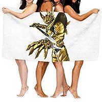 牙狼 大判ファッションバスタオル、ビーチタオル、吸水性速乾性バスタオル、超ソフト多機能バスタオル、抗菌・脱臭、ホテル家庭用マイクロファイバー片面印刷独自パターンバスタオル 130*80cm