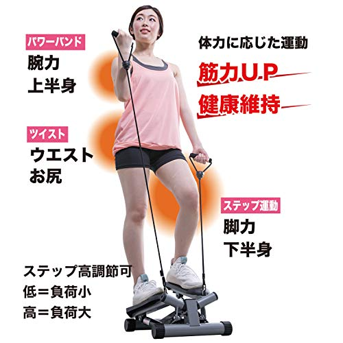 IRONMANCLUB(鉄人倶楽部)ミニツイストステッパーバンド付IMC-90家庭用