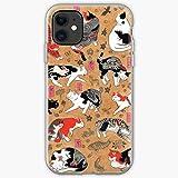 Tattoo Cat Cats Black Tattoos Feline Old School Pet Phone Case For All iPhone, iPhone 11, iPhone XR, iPhone 7 Plus/8 Plus, Huawei, Samsung Galaxy Illustration Stars Digital Rabbit Cute Bunny