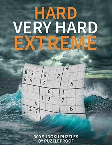 Hard Sudoku puzzle books vol 1 Hard Very Hard and Extremely Hard Sudoku Total 300 Sudoku puzzles product image