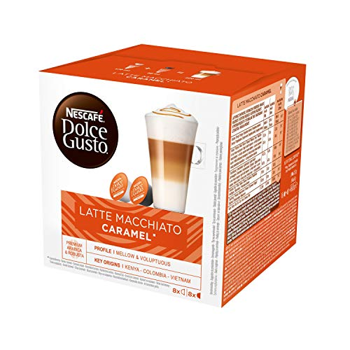Nescafe‰ Dolce Gusto Coffee Capsules, Caramel Latte Macchiato 48 Single Serve Pods, (Makes 24 Specialty Cups) 48 Count