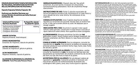 Health Hack - Colágeno hidrolizado, 90 cápsulas