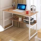 Youyijia Office Computer Desk with Shelves Study Desk Home Writing Table for Adult and Kids Nature L120 x W48 x H73 cm