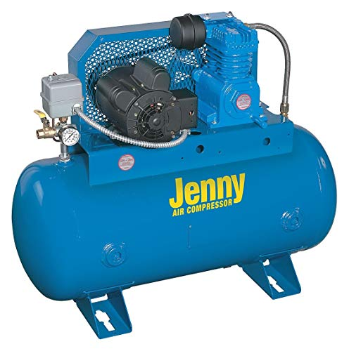 Jenny 1 Phase Horizontal Tank Mounted 1-1/2HP Fire Sprinkler Air Compressor, 30 gal, 40 psi - K15S-30UMS-115/1