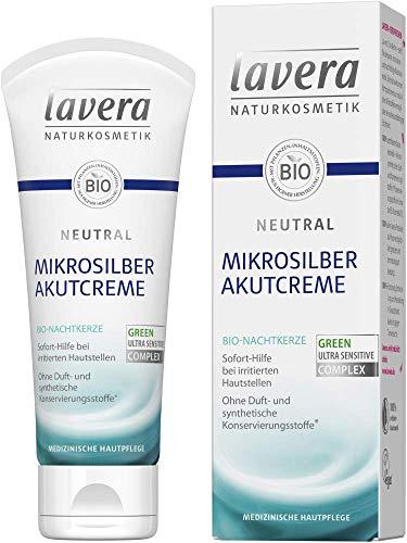 Lavera Akutcreme Neutral Mikrosilber mit Bio-Nachtkerze 3er Vorteilspack (3 x 75ml)