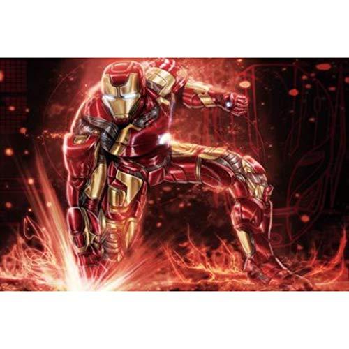 Rompecabezas Iron Man Puzzle 300/500/1000 Pieza Marvel Avengers Adulto del niño de Juguete Grande (Color : A, tamaño : 1000 Tablets)