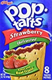 Kelloggs Pop-Tarts Strawberry Unfrosted 8 piece (416g)