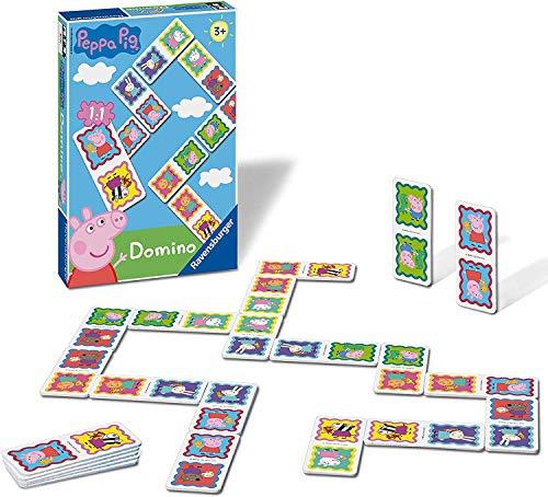 Ravensburger 21374 Peppa Pig-Dominoes Niños Edad 3 Años y Up-A Clásico Juego y Favorito de la Familia
