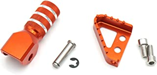 Motorcycle Rear Brake Pedal Step Plate Tip Gear Shifter Shift Lever For KTM 125 - 530 950 ADVENTURE 690 SMC SX XC XCF XCW EXC (orange)