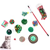 <span class='highlight'><span class='highlight'>ZQEU</span></span> Cat Toys Kitten Toys Assorted, Christmas Stocking Cat Gifts Set - Cat Toy Filled - Kitty Festive Stocking Variety Pack Toy (green)