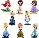 8 Unids / Set Adornos De Decoración De Pasteles Princesa Aisha Alice Sophia Sirena Cumpleaños Juguet...