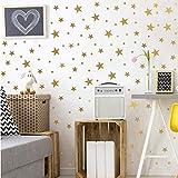 KARTME 124 Sterne Wandtattoos fürs Kinderzimmer,Goldene Sterne Wandaufkleber,Abnehmbare Peel & Stick Wandpaste für Babyzimmer Kinderspielzimmer Home Dekoration