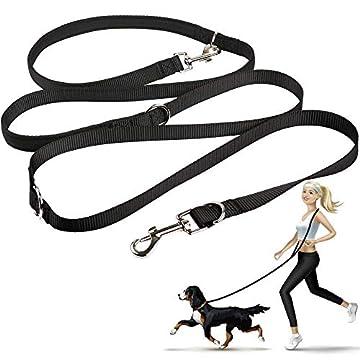 🐶👍MULTIFUNKTIONALE HUNDELEINE - Durch die zwei Karabiner und drei Ringe kann die Kurz Leine, Lang Leine, Umhänge-Leine, Jogging-Leine, Doppel leine und Fix Leine. Sie ist für kleine, mittel-große, mittlere & grosse Hunde. 🐶👍ROBUSTE MATERIALIEN - Die ...