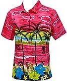 LA LEELA Camicette Hawaiian Donne della Camicia da Spiaggia Indossare Maniche Corte Costum...