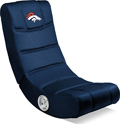 Imperial Officially Licensed NFL Furniture: Ergonomic Video Rocker Gaming Chair with Bluetooth, Denver Broncos, Multi Color, one Size (114-1003)