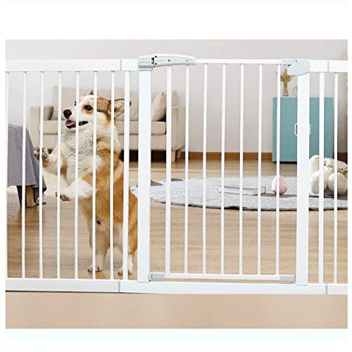 Baby Gate Baby Gates for Stairs Guardrail Safety Gate Baby Gate Pression Mount Clôture Pet Dog Fence Door (Couleur: High80CM, Taille: 173-180cm)