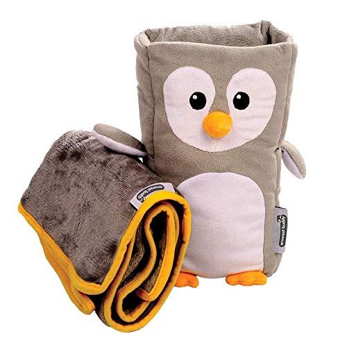 Reisekissen und Decken-Set für Kinder – 'Tux' Armrest Buddy verwandelt jede Armlehne in ein kuscheliges Kissen für Kinder – ideal für Kinder von 1,5 bis 4 Jahren