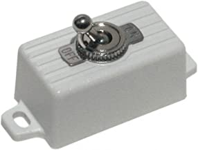SECO-LARM SS-076Q/SW ENFORCER SPST Toggle Switch, Attractive plastic case with 2 screw holes and pre-wired 6