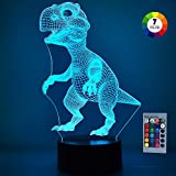 Lámpara LED de proyección dinosaurio en 3D