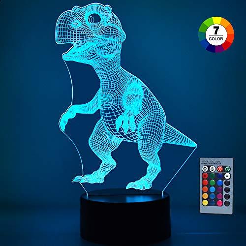 SOKY Cadeaux Garcon 2-8 Ans Enfant, Lampe Dinosaures Peluche Dino LED Veilleuse 2-8 Ans Garcon Jouets pour Enfants de 2-8 Ans Cadeau pour Fille de 2-8 Ans Baby Cadeau de Vacances T-Rex Lampe Fortnite