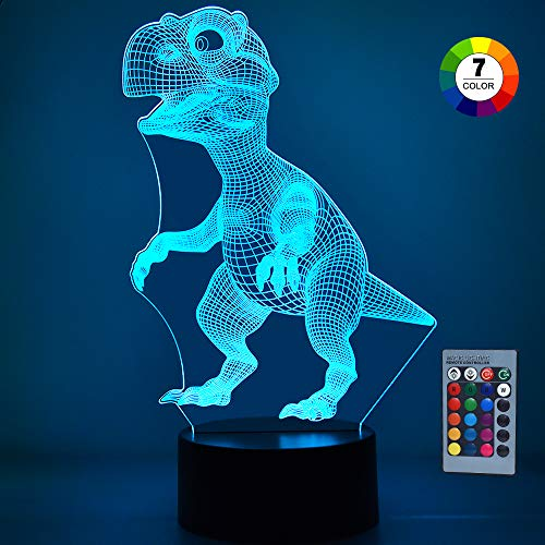 Tesoky Gifts for 1-10 Year Old Boys Girls Baby, Night Light for Kids Toddler Toys for 1-10 Year Old Boy Girls Easter Gifts Age 1-10 Night Light Dinosaur Toys for Boys Age 1-10(Little Tyrannosaurus)