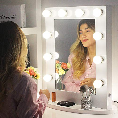 Choosing The Best LED Vanity Mirror: Four Products To Look At In 2018:Chende Tabletop Vanity Mirror