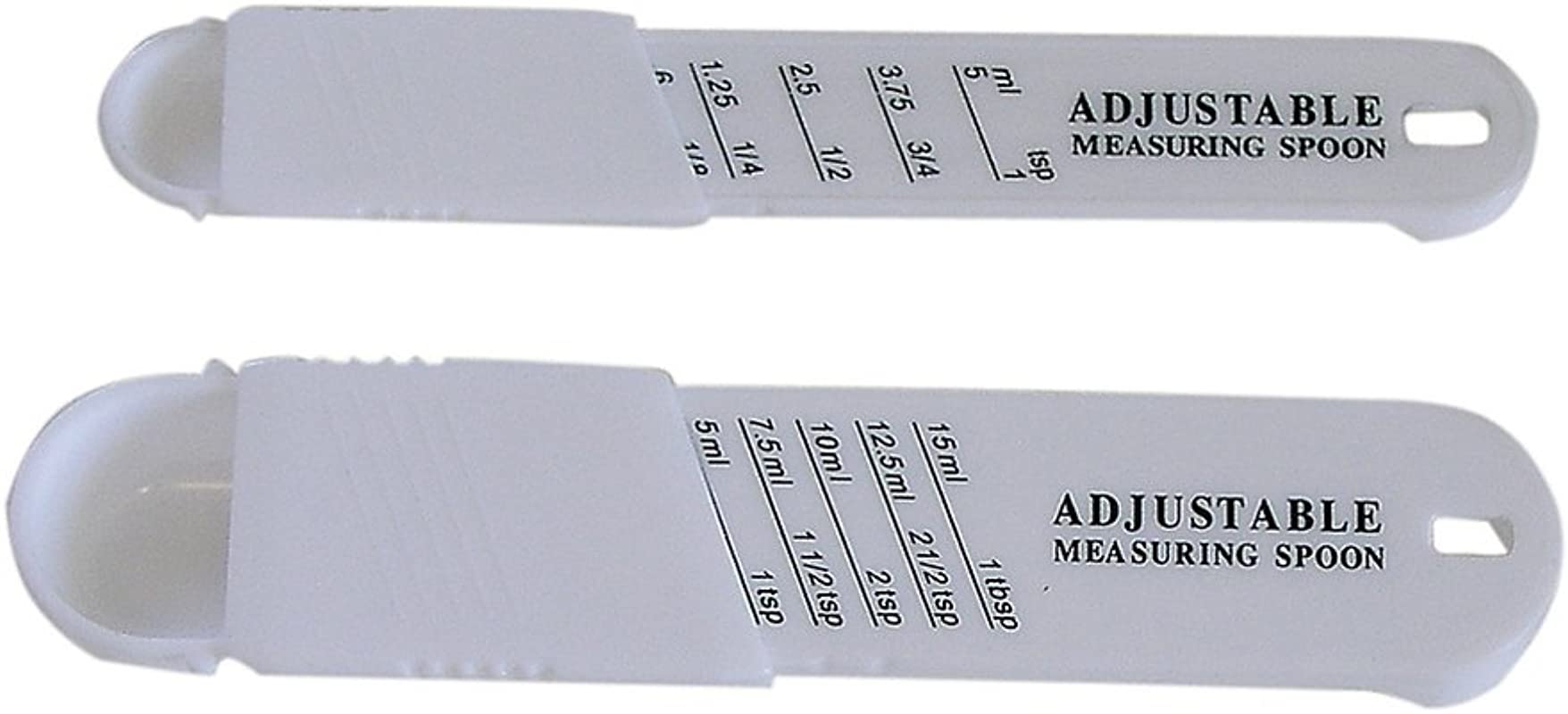 CybrTrayd RM 2632 Adjustable Measuring Spoon 2 Piece Set One Size White