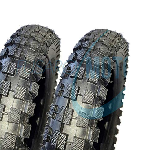 EMC12MCG - 2 neumáticos de goma con tacos para moto Mini Cross Minimoto Minimoto Minimoto 12 x 1/2 2.75