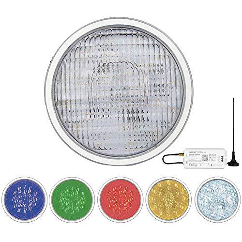 LED PAR56 RGB+CCT Poollampe Poolleuchte Poolbeleuchtung Lampe für Unterwasser Unterwasscheinwerfer MiLight PW01 Farbwechsel und Weiß CCT mit Fernbedienung oder App Alexa DMX (Einzeln+App/Alexa/DMX)