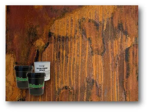OXITAL RUGGINE pittura vernice decorativa effetto corten ossidato Nikkolor Italia (Ruggine versione opaca)
