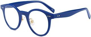 Inlefen Round frame reading glasses Full Frame Readers Rice nail Round Glasses