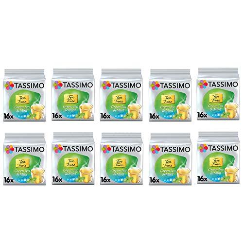 Tassimo Tea Time Mint Green Tea Cápsulas - Paquete de 10 (160 bebidas)
