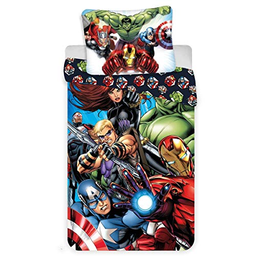 Jerry Fabrics Marvel Avengers City Einzelbettbezug-Set