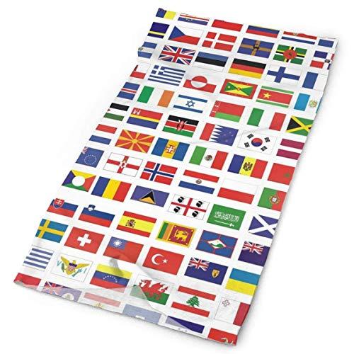 Quintion Robeson Pañuelo al Aire Libre para la máscara de la Boca Rave Protección contra el Polvo Todos los países Bandera Nacional Máscara de Tubo Pañuelo para la Cabeza, Mujeres Hombres