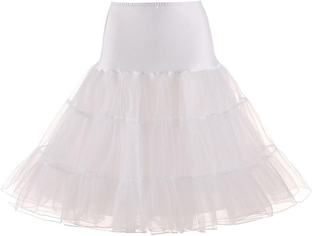 Max 41% OFF Women Tutu 50s Vintage Very popular Skirt Slips Crinoline Wedding Underskirt