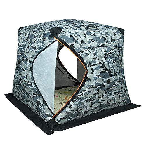 LOY Refugio para Pesca en Hielo de 3 a 4 Personas, Tienda de campaña Ligera e Impermeable para mochileros Que viajan al Aire Libre,Camuflaje
