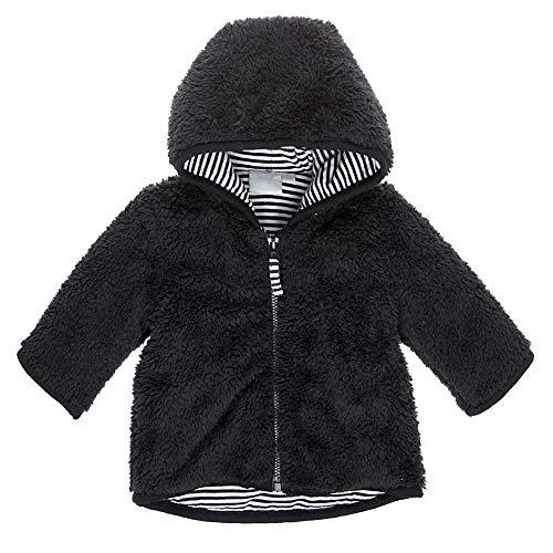 Feetje Baby-Jungen Plüschjacke mit Kapuze 518.00184-700 schwarz, 68