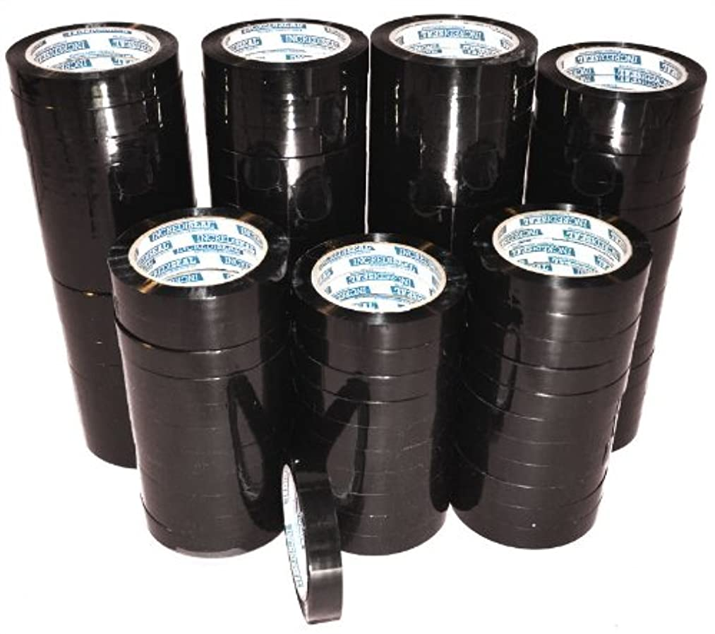 INCREDISEAL 96 Rolls Strapping Tape, 3/4 Inch x 110 Yards x 2.70 Mil - Black