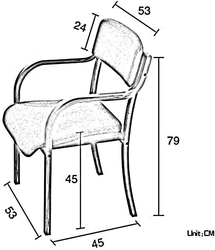 Chaise Chaise Simple Simplicité Moderne Laminé Structure En Bois De Bentwood Finition Linge De Coton Et Balcon Restaurant (Couleur : H) B