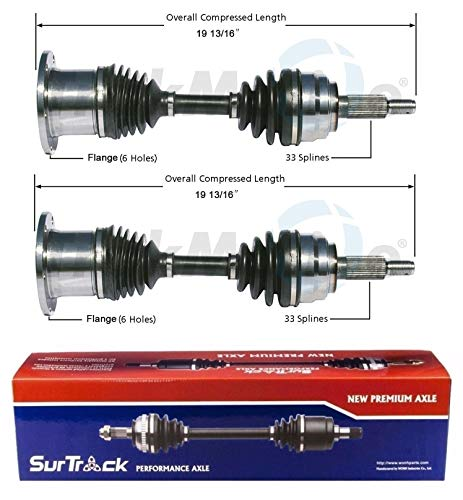 SurTrack Pair Set of 2 Front CV Axle Shafts For Lincoln Navigator Ford F-150 4WD