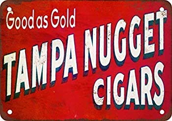 Jacksoney Tin Sign New Aluminum Metal Tampa Nugget Cigars Sign Retro 11.8 x 7.8 Inch