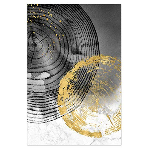 U/N Lienzo Dorado Claro, Carteles en Blanco y Negro e impresión, decoración Moderna, Cuadros de Arte de Pared, Sala de Estar, Pasillo-4