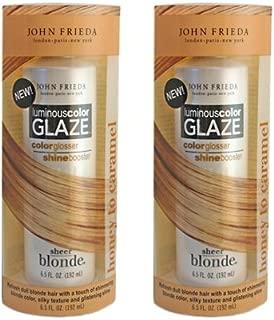 sheer blonde glaze