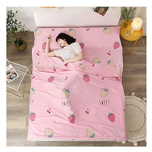 YAOTT Reise Schlafsack Liner mit Muster,leichte Schlafsackhülle für Erwachsene im Hotel und Outdoor-Standalone-Schlafsack mit Reißverschluss 1 180 * 210cm